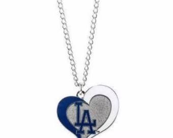 Dodgers heart charm only (No chain)