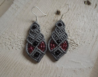 Macramé earrings. Macramé earrings