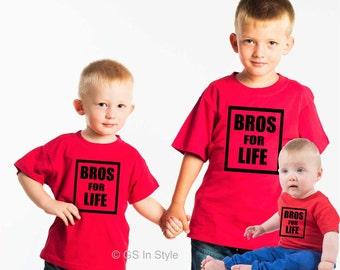 Bros for life kids t-shirt