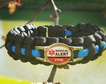 PTSD Medical alert paracord bracelet