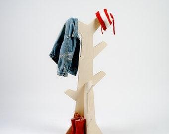 Kids rack, toddler clothes rack, wood coat hat towel rack, kids coat hook, kids room decor wood rack clothes hanger childrens clothes hanger