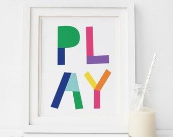 Play Room Decor, SALE PRINT, Play Print, Play Room Wall Art, Kids Room Art, Play Room Art, Play Printable, Kids Room, artprinstfactory, kids