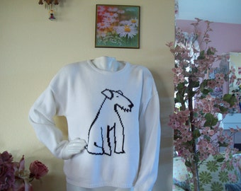 Dog Sweater by Geoffrey Beene Sport in Black and White, size XL