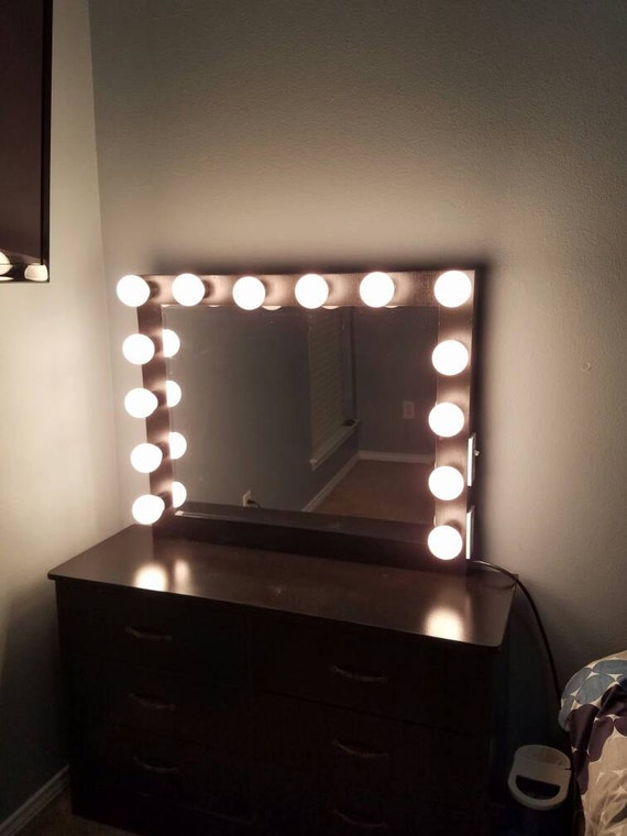 Hollywood Vanity Light Bulbs : Vanity mirror with Hollywood lighting. BULBS NOT by Charmvanities