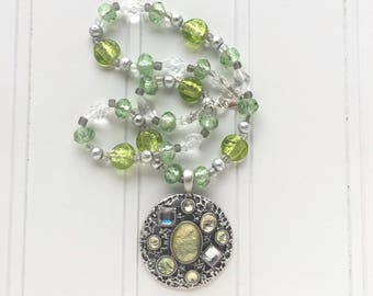 Light Green Jewel Necklace