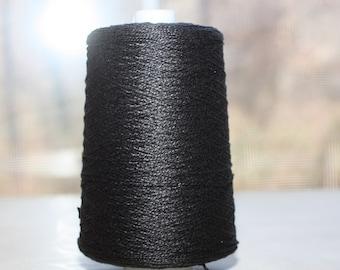 3/2 Pearl Cotton cone, color Black