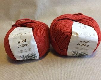 2 balls Rowan wool cotton