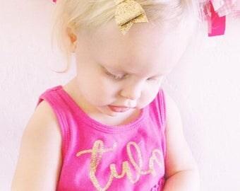 2nd birthday outfit girl - 2nd Birthday Dress - Second Birthday - Birthday Outfit Girl - Two birthday outfit - Hot Pink Gold Birthday Dress