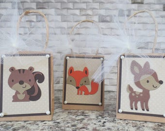 Woodland Forest Animal Party Favor Bags - Small - 6 Per Listing