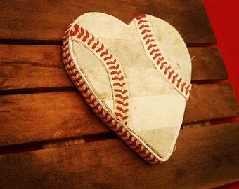 Baseball Heart on Plaque