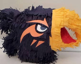 University of Texas at San Antonio (UTSA) Rowdy the Roadrunner logo inspired piñata.  Handmade. New