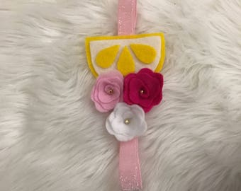 Lemon Flower Baby Girl headband