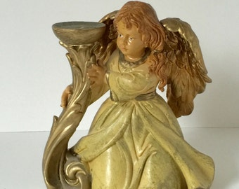 Vintage Candle Holder,  Angel Candle Holder, Italy 5644, Gold Angel Candle Holder, Anytime Angel Candle Holder, Home Decor