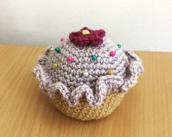 Amigurumi Cupcake Pincushion – Crochet – Gifts for Her – Crafts – Sewing Gifts