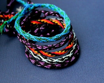 Kumihimo bracelets Handwowen Cotton thread bracelet Unisex bracelet
