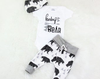 baby boy coming home outfit/baby bear/ take home outfit/ newborn boy/organic cotton