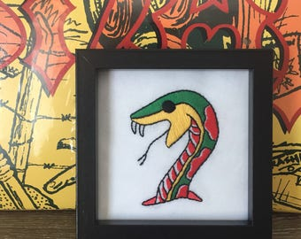Snake Embroidery