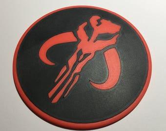 3D Printed Star Wars Mandalorian Logo Coaster / Plaque
