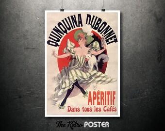 Quinquina Dubonnet, Apéritif Dans Tous Les Cafés, Jules Chéret Poster, 1895 - Art Nouveau, Art Nouveau Poster, Art Nouveau Print, Alcohol