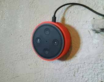 Amazon Echo Dot 2nd Generation wall mount,with mounting screws,available in assorted colors on request.high quality 3Dprinted