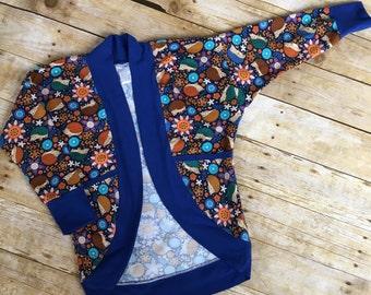 Ellie Dolman Cardigan, Baby Sweater, Baby Gift, Boys cardigan, Girl's cardigan, Hedgehog, Child's sweater, Children's coverup