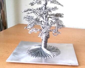 Wire tree, wire work, metal tree, Dekoobjekt, bonsai, Metaltree, metal work