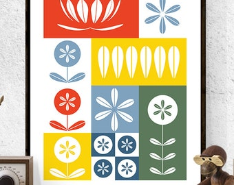 Cathrineholm Print,Mid Century Modern,Kitchen Print,Retro Poster,Lotus Print,Lotus,Cathrineholm,Kitchen Print Poster,Norwegian, Scandinavian
