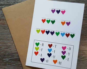 Love Card, I Love You Card, Anniversary Card for Wife, Just Because, Happy Anniversary, You Are My Favorite, Card For Boyfriend, Cute Cards