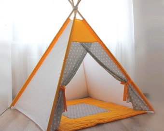 Kids teepee - Play tent - Teepee - Kids gift - Baby gift - Childrens gift - Girls teepee - Playhouse