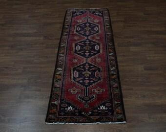 Stunning Unique Pattern Runner Hamedan Persian Oriental Area Rug Carpet 3'5X10'