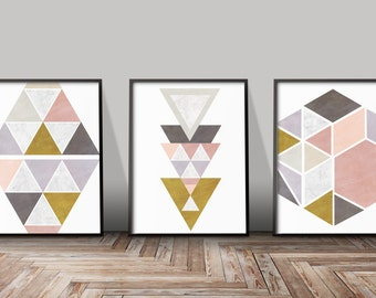Set Of 3 Art Geometric Prints Set Of 3 Minimalist Prints Set Of 3 Art Prints Set Of 3 Giclee Prints Set Of 3 Wall Art Prints Set Of 3 Prints