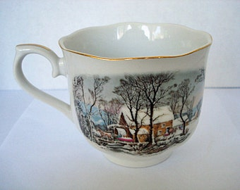 Currier and Ives Avon Tea/Coffee Cup 1977