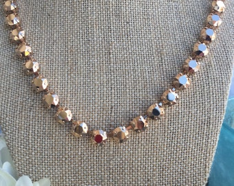 Swarovski 8mm crystal necklace with rose gold crystals in a rose gold setting....stunning!!