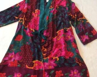 Carol Little Vintage Print Kimono style Jacket