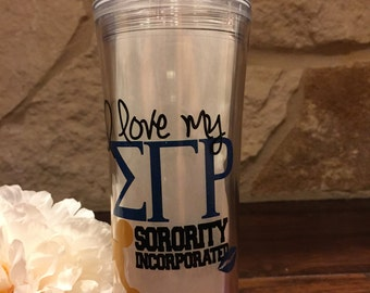 I Love My ΣΓΡ Sorority: 20oz Hot & Cold Double Wall Tumbler