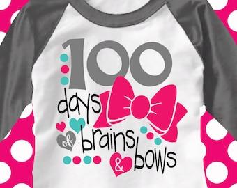 100th day of school svg,hundredth day, brains and bows svg, teacher svg, school, 100 days, SVG, ...