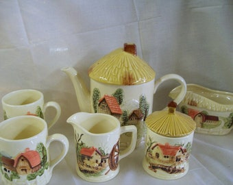 1981 Sears, Roebuck & Company Farm Scene Tea Set and More