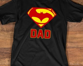 Super Bat Dad T-shirt - Funny Shirts for Dads - Father's Day Gift for any Cool Dad - Super Dad Shirt, Bat Dad Shirt, Birthday Dad, Up to 3XL
