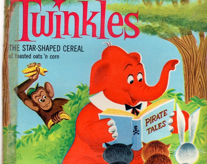 1960's Twinkles General Mills Cereal Box Book Twinkles and Wilbur the Monkey