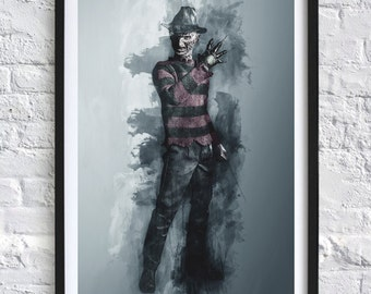 Nightmare on Elm Street - Freddy Krueger 'Watercolor' A4 Print