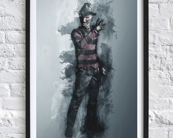 Nightmare on Elm Street - Freddy Krueger 'Watercolor' A4 Print