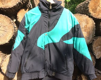 "Vintage 1980s Robern Down Filled ""Downhill Racer"" Ski Jacket Sz L USED"