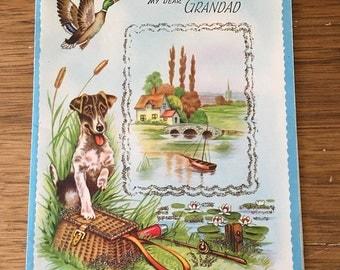 Vintage | Happy Birthday | Grandad | Hunting | Fishing | Greeting Card