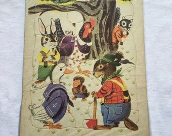 Vintage | Playskool | Woodland Animal | Jigsaw Puzzle