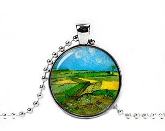 Van Gogh Necklace Van Gogh Wheat fields Pendant Van Gogh Jewelry Art Necklace