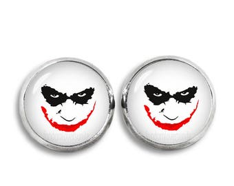 Joker Face Stud Earrings Joker earrings Fandom Jewelry Cosplay Fangirl Fanboy