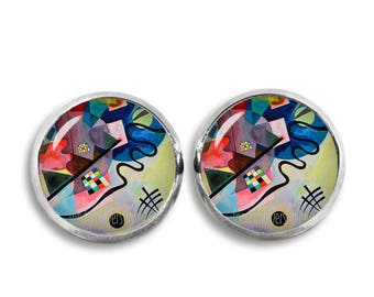 Wassily Kandinsky Stud Earrings Kandinsky Earrings Art Jewelry