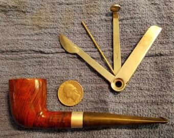 Vintage Frank Medico briar pipe with Yello-Bole tool