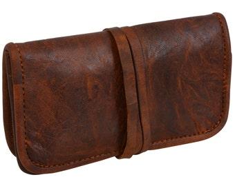 Gusti leather 'Bradley' tobacco Pouch Pocket