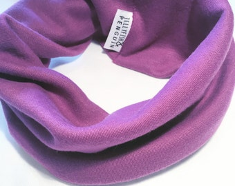 ON SALE Purple handmade snuggle snood
